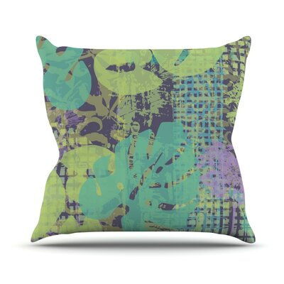 Verdure Collage by Chickaprint Throw Pillow Size: 18 H x 18 W x 3 D