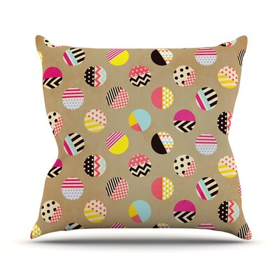 Fun by Louise Machado Geometric Throw Pillow Size: 16 H x 16 W x 3 D