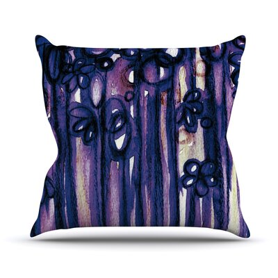 Winter Garden by Ebi Emporium Throw Pillow Size: 18 H x 18 W x 3 D