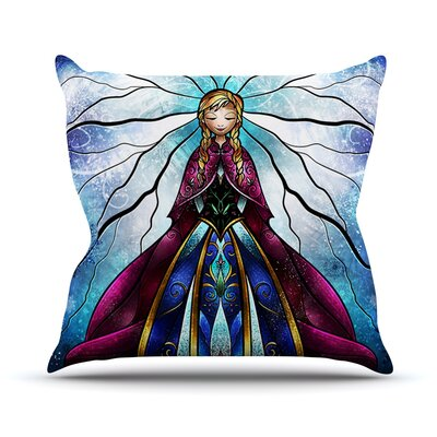 The Little Sister by Mandie Manzano Frozen Throw Pillow Size: 26 H x 26 W x 5 D