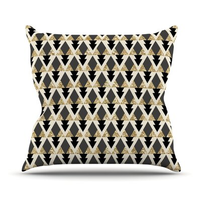 Glitter by Nika Martinez Geometric Throw Pillow Size: 20 H x 20 W x 4 D