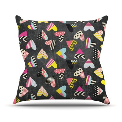 Pieces of Heart by Louise Machado Throw Pillow Size: 20 H x 20 W x 4 D