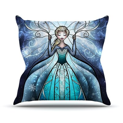 The Snow Queen by Mandie Manzano Frozen Throw Pillow Size: 16 H x 16 W x 3 D