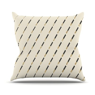 Glitter Diagonals by Nika Martinez Throw Pillow Size: 20 H x 20 W x 4 D