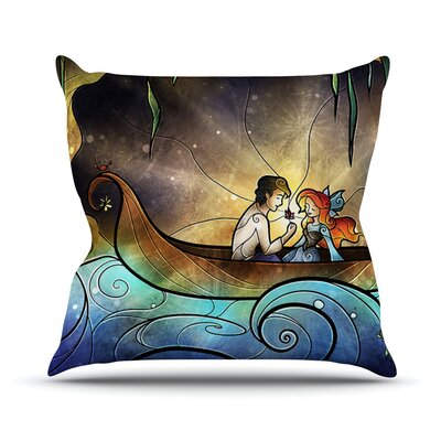 Something About Her by Mandie Manzano Mermaid Throw Pillow Size: 26 H x 26 W x 5 D