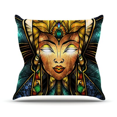 Nefertari by Mandie Manzano Throw Pillow Size: 18 H x 18 W x 3 D