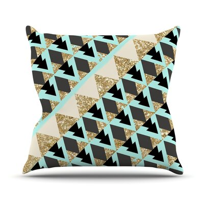 Glitter by Nika Martinez Throw Pillow Size: 16 H x 16 W x 3 D
