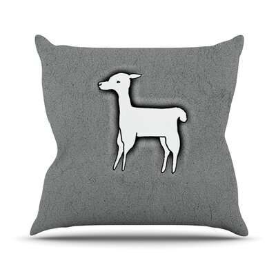 Llama One by Monika Strigel Throw Pillow Size: 16 H x 16 W x 3 D