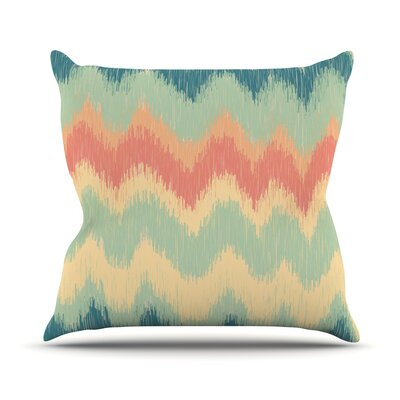 Ikat Chevron II by Nika Martinez Throw Pillow Size: 16 H x 16 W x 3 D