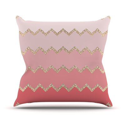 Avalon Ombre by Monika Strigel Chevron Throw Pillow Size: 20 H x 20 W x 4 D