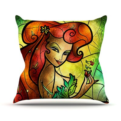 Poison Ivy by Mandie Manzano Villain Throw Pillow Size: 26 H x 26 W x 5 D