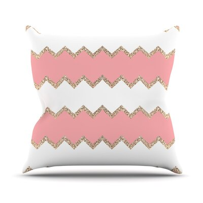 Avalon Chevron by Monika Strigel Throw Pillow Size: 18 H x 18 W x 3 D, Color: Coral