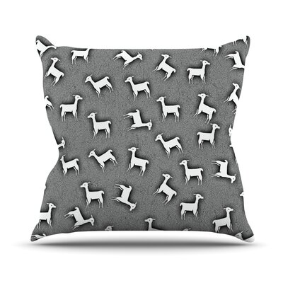 Llama Multi by Monika Strigel Throw Pillow Size: 18 H x 18 W x 3 D