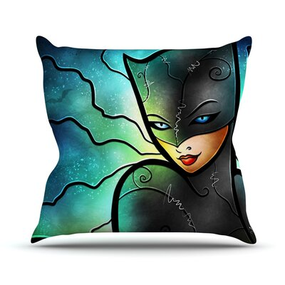 Miss Kitty by Mandie Manzano Cat Villain Throw Pillow Size: 16 H x 16 W x 3 D