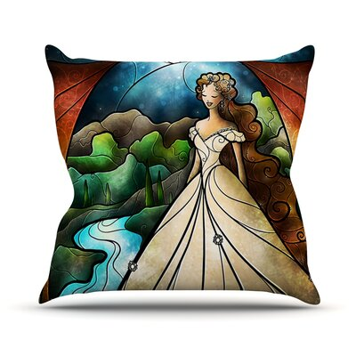 Think Of Me by Mandie Manzano Princess Throw Pillow Size: 18 H x 18 W x 3 D