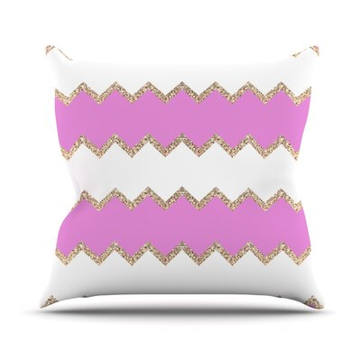 Avalon Chevron by Monika Strigel Throw Pillow Color: Pink, Size: 26 H x 26 W x 5 D