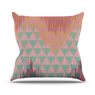 Ikat Geometrie II by Nika Martinez Throw Pillow Size: 20 H x 20 W x 4 D