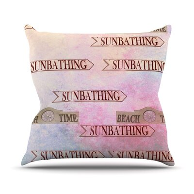 Beach Time by Marianna Tankelevich Throw Pillow Size: 26 H x 26 W x 5 D