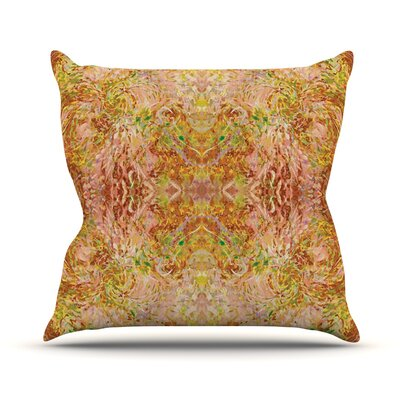 Goldenrod II by Nikposium Throw Pillow Size: 16 H x 16 W x 3 D
