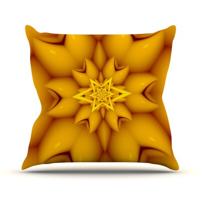 Citrus Star by Michael Sussna Throw Pillow Size: 18 H x 18 W x 3 D