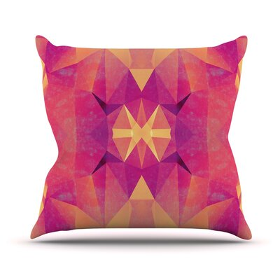 Retro Geometrie by Nika Martinez Throw Pillow Size: 26 H x 26 W x 5 D