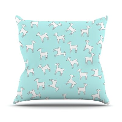 Baby Llama Multi by Monika Strigel Throw Pillow Size: 26 H x 26 W x 5 D