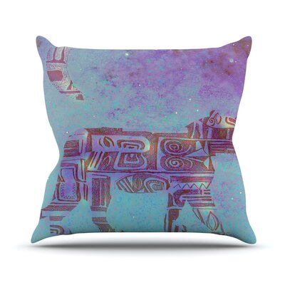 Panther at Night by Marianna Tankelevich Throw Pillow Size: 18 H x 18 W x 3 D