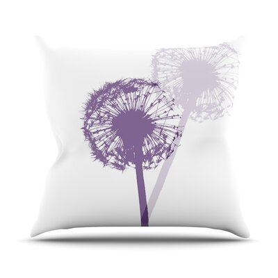 Dandelion by Monika Strigel Flower Throw Pillow Size: 18 H x 18 W x 3 D