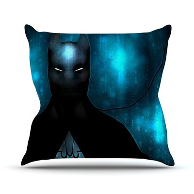 Dark Knight by Mandie Manzano Throw Pillow Size: 18 H x 18 W x 3 D