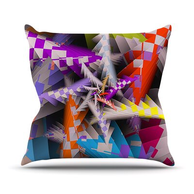 Sticker Thicket by Michael Sussna Throw Pillow Size: 18 H x 18 W x 3 D