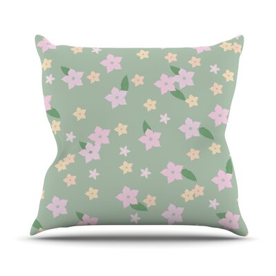 Spring Floral Throw Pillow Size: 16 H x 16 W x 3 D