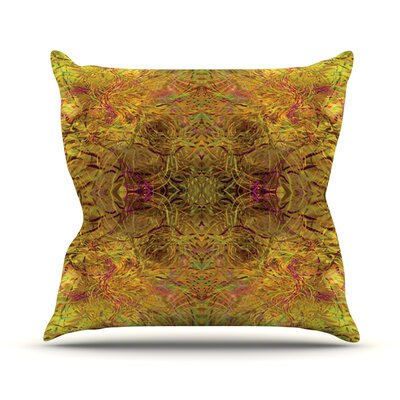 Goldenrod by Nikposium Throw Pillow Size: 20 H x 20 W x 4 D
