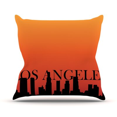 Los Angeles Throw Pillow Size: 20 H x 20 W x 4 D