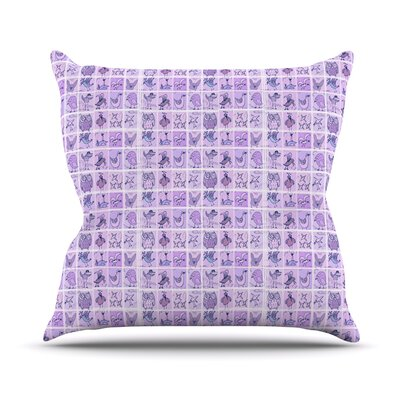 Cute Birds by Marianna Tankelevich Throw Pillow Color: Purple, Size: 26 H x 26 W x 5 D