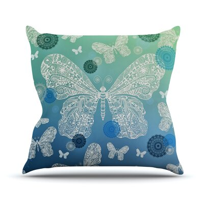 Butterfly Dreams by Monika Strigel Throw Pillow Size: 16 H x 16 W x 3 D, Color: Ocean