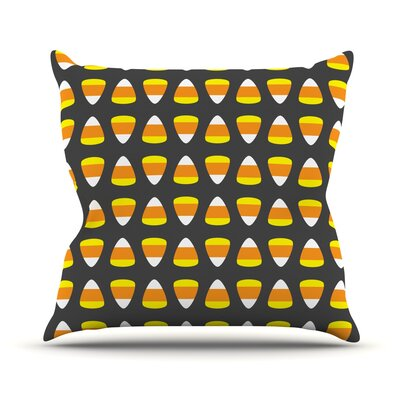 Kandy Korn Throw Pillow Size: 18 H x 18 W x 3 D