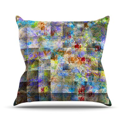 Yggdrasil by Michael Sussna Rainbow Abstract Throw Pillow Size: 16 H x 16 W x 3 D