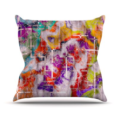 Quantum Foam by Michael Sussna Rainbow Geometric Throw Pillow Size: 18 H x 18 W x 3 D