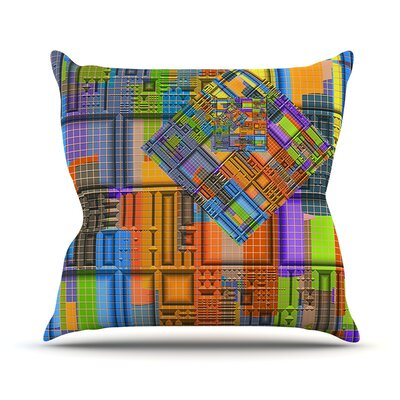 Tile Rep by Michael Sussna Abstract Throw Pillow Size: 26 H x 26 W x 5 D