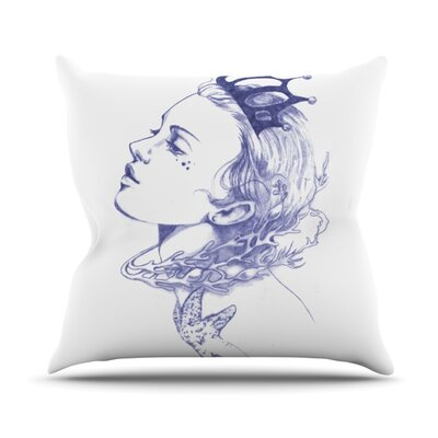 Queen of The Sea Throw Pillow Size: 20 H x 20 W, Color: Purple