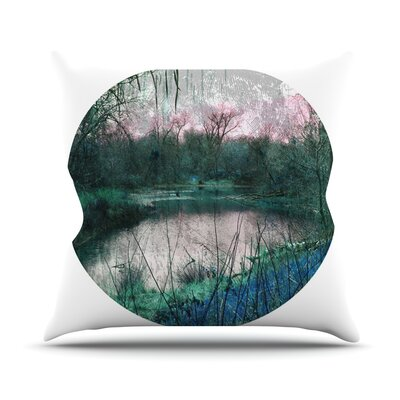 Swamp by Micah Sager Lake Throw Pillow Size: 16