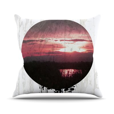 Valley by Micah Sager Sunset Splatter Throw Pillow Size: 16