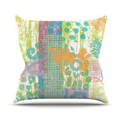 Dazed by Chickaprint Splatter Throw Pillow Size: 16 H x 16 W x 3 D