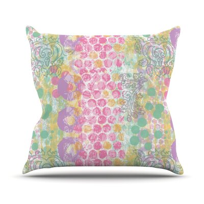Impression by Chickaprint Pastel Mix Throw Pillow Size: 18 H x 18 W x 3 D
