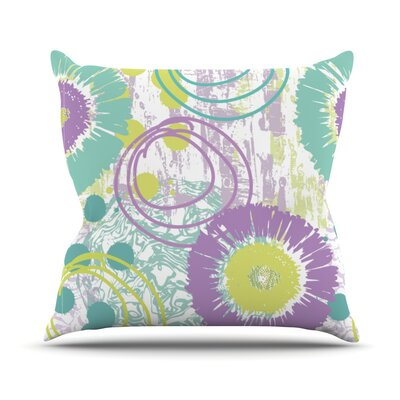 Splatter by Chickaprint Throw Pillow Size: 18 H x 18 W x 3 D
