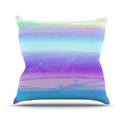 Drip Dye Cool by Nina May Throw Pillow Size: 20 H x 20 W x 4 D