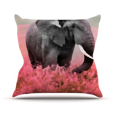 Ele-Phant by Oriana Cordero Throw Pillow Size: 18 H x 18 W x 3 D