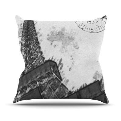 Bonjour Mon Amour by Oriana Cordero Eiffel Throw Pillow Size: 18 H x 18 W