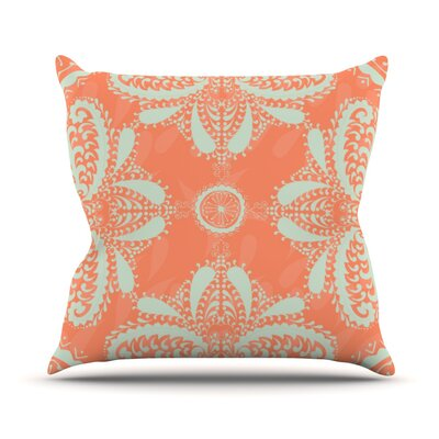 Motifs by Nandita Singh Throw Pillow Size: 18 H x 18 W x 3 D, Color: Orange