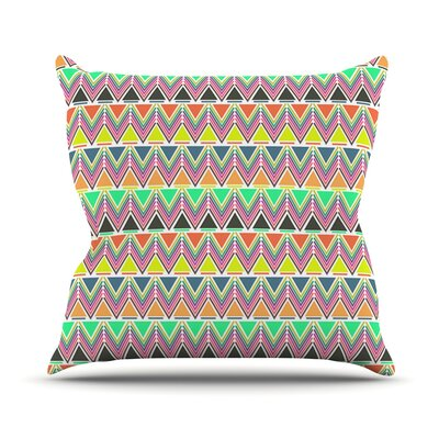 Play Multi by Nandita Singh Rainbow Chevron Throw Pillow Size: 18 H x 18 W x 3 D